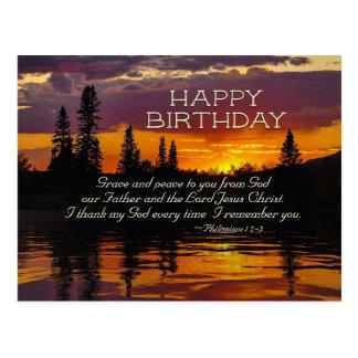 Inspirierend Geburtstag, Anmut und Frieden zu Postkarte