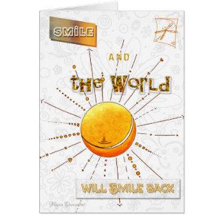 Inspirierend Glück-Zitat-Kunst-Gruß-Karte Karte