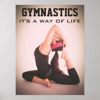 Inspirierend Gymnastik-Zitat Poster