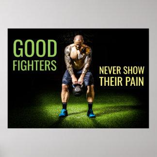 Inspirierend Kämpfer-Zitat der Poster