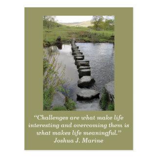 Inspirierend Karte; Herausforderung 1 - Postkarte
