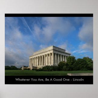 Inspirierend Lincoln-Plakat Poster