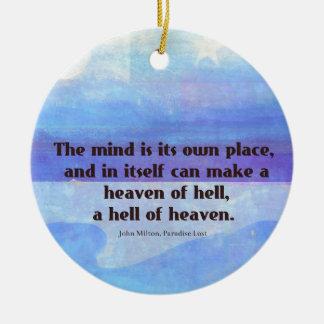 Inspirierend Milton-Zitat Paradies verloren Keramik Ornament