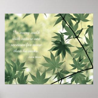 Inspirierend Natur-Zitat Poster
