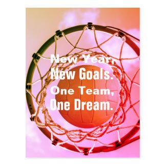 Inspirierend Netball-Thema-Bild mit Zitat Postkarte