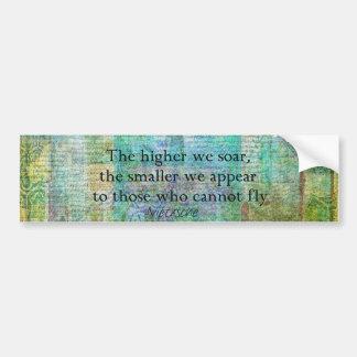 Inspirierend Nietzsche STEIGEN Zitat an Autoaufkleber