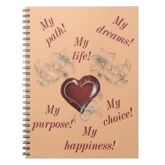 Inspirierend Notizbuch - sind Sie Spiral Notizblock
