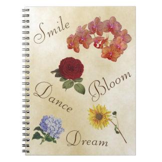 Inspirierend Notizbuch - steigen Sie oben Notizblock