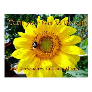 Inspirierend Postkarte der Sonnenblume/Maori-