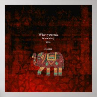 Inspirierend Rumi, was Sie Zitat suchen Poster