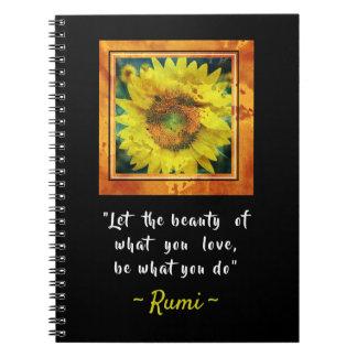 Inspirierend Rumi Zitat Spiral Notizblock