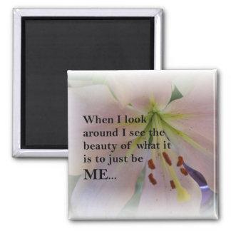 Inspirierend Schönheit von ich sein quadratischer  Quadratischer Magnet