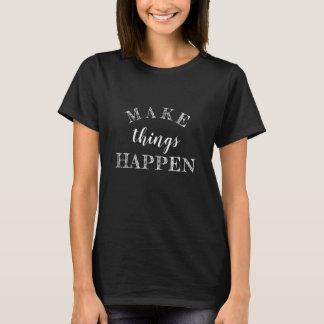 Inspirierend Schwarzweiss-Leben-Zitat T-Shirt