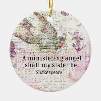 Inspirierend Shakespeare-Schwesterzitat Keramik Ornament