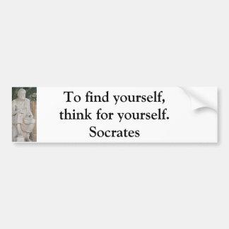 Inspirierend SOCRATES-Zitat Autoaufkleber
