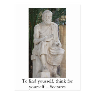 Inspirierend SOCRATES-Zitat Postkarte
