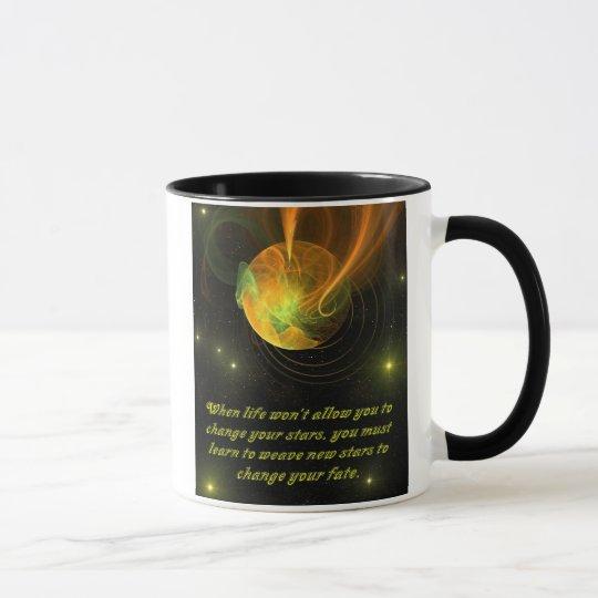 Inspirierend - spinnende neue Sterne Tasse
