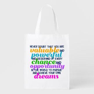 Inspirierend Traum-Zitat Hillary Clintons Wiederverwendbare Einkaufstasche