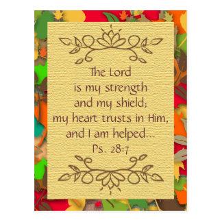 Inspirierend-Vertrauen auf die Lord-Postkarte Postkarte