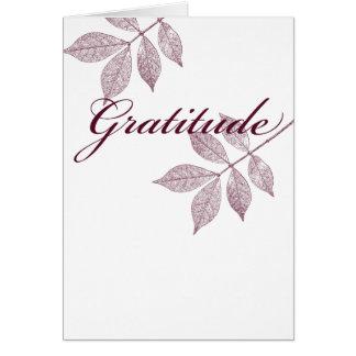 Inspirierend Wort-Dankbarkeit Grußkarte