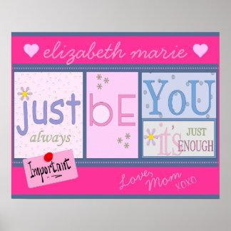 Inspirierend Wörter für eine Tochter Poster