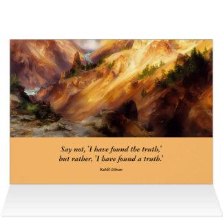 inspirierend Yellowstone-Landschaft Grußkarte