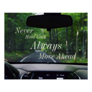 Inspirierend Zitat-Abenteuer-Plakat Poster