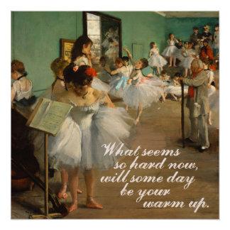 Inspirierend Zitat der Ballett-Klassen-| Edgar Poster