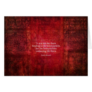 Inspirierend Zitat Emilys Bronte Karte