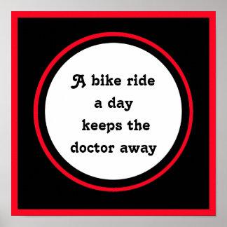 inspirierend Zitat für Radfahrer Poster