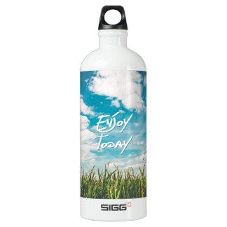 "Inspirierend Zitat ""genießen heute"" blauen Himmel Aluminiumwasserflasche"