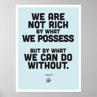 Inspirierend Zitat Immanuel Kants - Poster