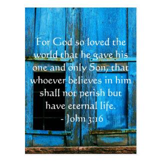 Inspirierend Zitat John-3:16 Schrift Postkarte