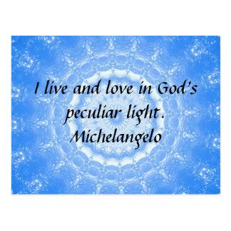 Inspirierend ZITAT Michelangelos Postkarte