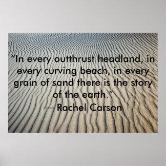 Inspirierend Zitat-Plakat-Sand Poster