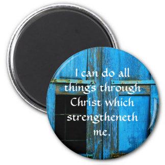 Inspirierend Zitat von der Bibel - Runder Magnet 5,1 Cm