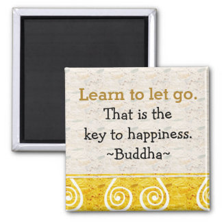 Inspirierend Zitate Buddha Happiness Quadratischer Magnet