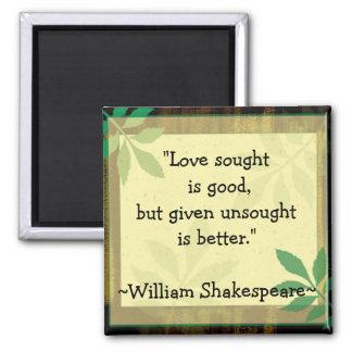 Inspirierend Zitate Shakespeare|Love Quadratischer Magnet