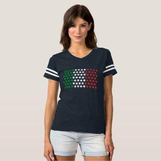 Inspiriert durch italienische Flagge. T-shirt