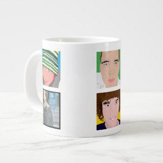 Instagram 6-Foto personalisierte kundenspezifische Jumbo-Tasse