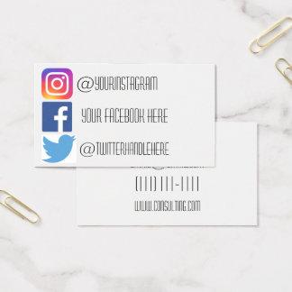 Instagram facebook Twitter-Geschäftskarte Visitenkarte