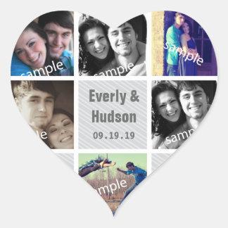 Instagram Herz-Form-Hochzeits-Foto-Aufkleber Herz-Aufkleber