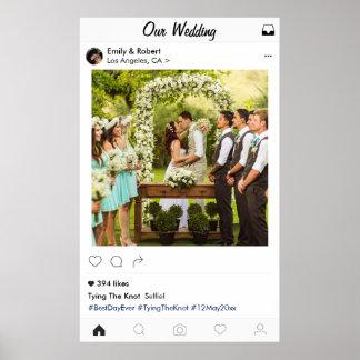 Instagram Hochzeits-Foto-Plakat Poster