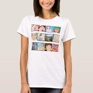 Instagram Mosaik-Foto-personalisiertes Damen-Kleid T-Shirt