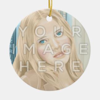 Instagram zwei Foto-Kreisbild-Verzierung Keramik Ornament
