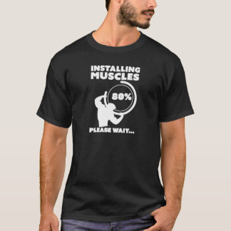 Installierung des Muskel-Ladens T-Shirt