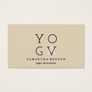 Instructeur de yoga cartes de visite