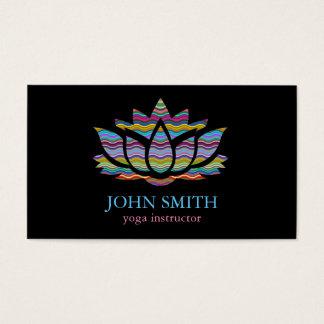 Instructeur minimaliste moderne de yoga de Lotus Cartes De Visite