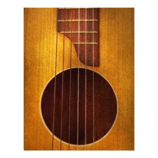 Instrument - Gitarre - lassen Sie uns etwas Musik  21,6 X 27,9 Cm Flyer