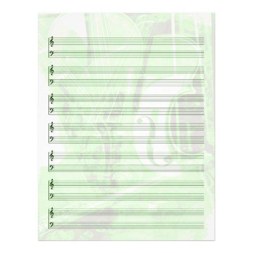 Instrument-Themenorientiertes Personal-Papier im G Flyerdesign